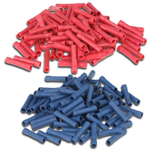 SET: 200 Stossverbinder isoliert 100xblau, 100xrot K24 - Stossverbinder