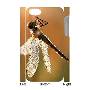Cool Painting Beautiful Dragonfly Unique Design 3D Cover Case for Iphone 4,4S,custom cover case case-310578