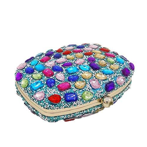 Or Main Pochettes à en pour Sac Couleur Nuptiale soirée Cristal Sacs Pochette de Sac Main Femmes Multicolor spéciales Multicolore soirée de Sac pour Xuanbao à Sac Occasions Prom Pochettes fête aq6gff