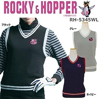 22187103ac139 ROCKY&HOPPER(ロッキーアンドホッパー) レディース Vネックニットベスト RH5345WL ブラック Lサイズ