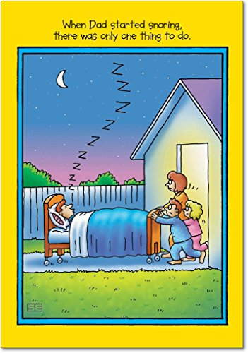 0351 'Dad Snoring' - Funny Father's Day Greeting Card with 5