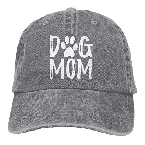 Denim Fabric Adjustable Dog Mom Fashion Baseball Cap (Ash, One Size) ()
