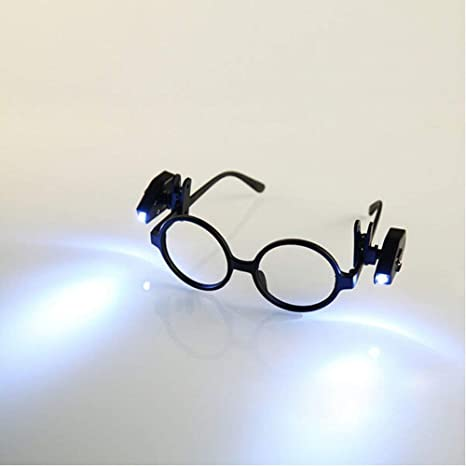 70950bdeba6 2PCS Universal Flexible LED Clip On Mini Book Reading Light Adjustable LED  Night Lamp For Safety EyeGlasses camping Reader (glasses NOT included) ...