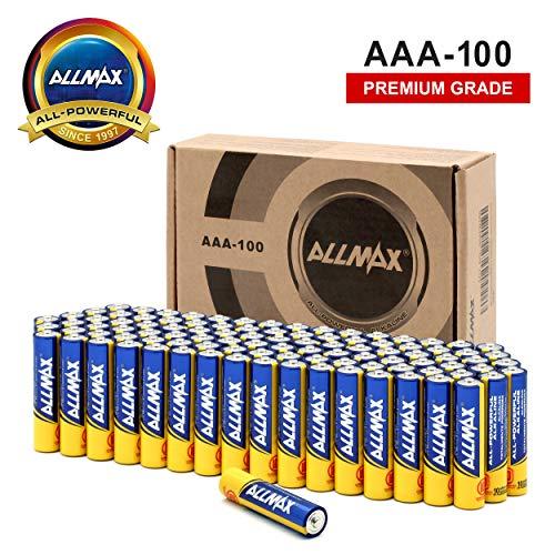 ALLMAX All-Powerful Alkaline Batteries-AAA (100-Pack)-Premium Grade-Ultra Long Lasting and Leak-Proof, Powered by EnergyCircle