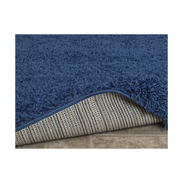 Sweet Home Stores COZY2866-3X8 Runner Rug, 2'7″ x 8′, Navy Blue