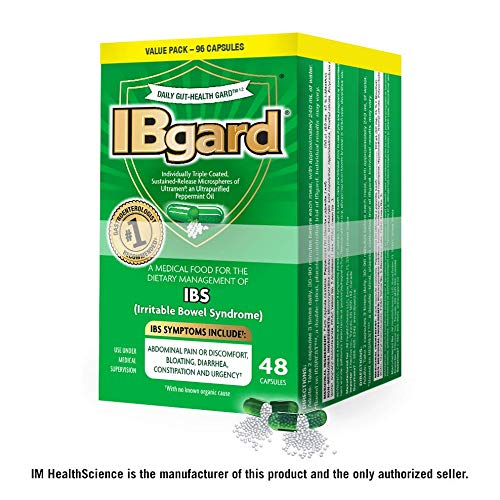 IBgard for Irritable Bowel Syndrome (IBS) Symptoms Including, Abdominal Pain, Bloating, Diarrhea, Constipation, 48 Capsules (2 Pack)