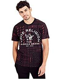 Men's True Bandana Short Sleeve Crew Neck Tee Shirt