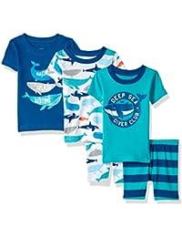 Boys' 5-Piece Cotton Snug-fit Pajamas