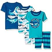 Carter's Baby Boys' 5-Piece Cotton Snug-Fit Pajamas, Whale, 9 Months