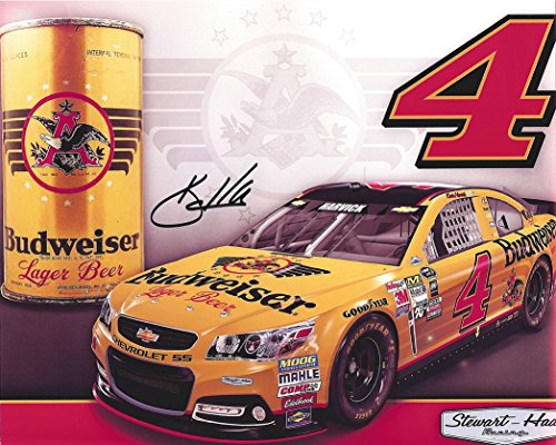 Harvick Photo (AUTOGRAPHED 2015 Kevin Harvick #4 Budweiser Racing DARLINGTON THROWBACK (Retro Paint Scheme) 8X10 Inch Signed Picture NASCAR Glossy Photo with COA)