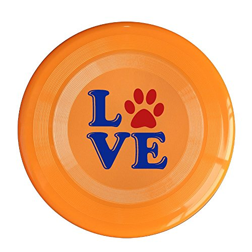 YYHU - Plastic Love My Dog Flying Discs - Orange