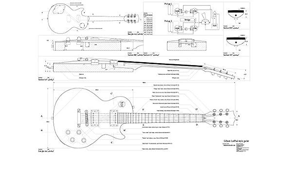 Set de 4 Gibson guitarra eléctrica Planes – CS-356, Les Paul, Les ...