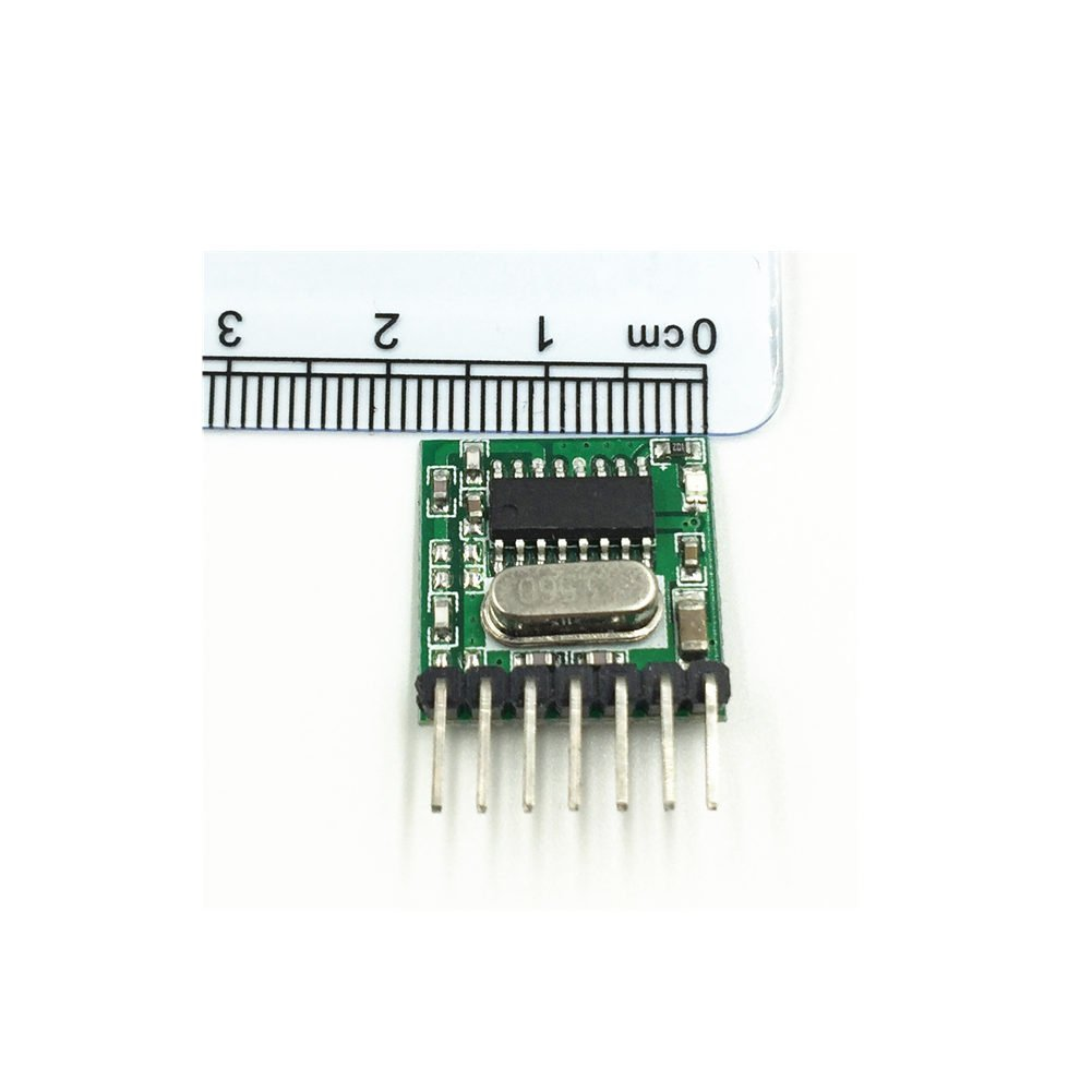 Wireless 433mhz Rf Module Receiver And Transmitter Circuit Esp8266 Copy Remote Control Built In Learning Code 1527 Decoding 4 Channel Output
