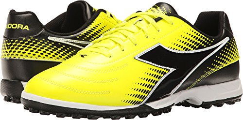 Diadora Unisex Mago R TF Yellow Flourescent/Dd Black 8 Women / 6.5 Men M US