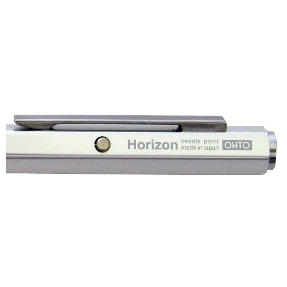 OHTO Needle Point Knock Ballpoint Pen Horizon Eu 0.7mm Ballpoint Silver Body (NBP-587H-SV) by OHTO (Image #2)