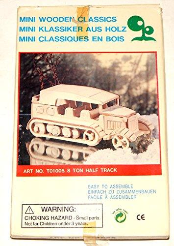 (German World War II 8 Ton Half Track Wood Model Kit Art No T01005)