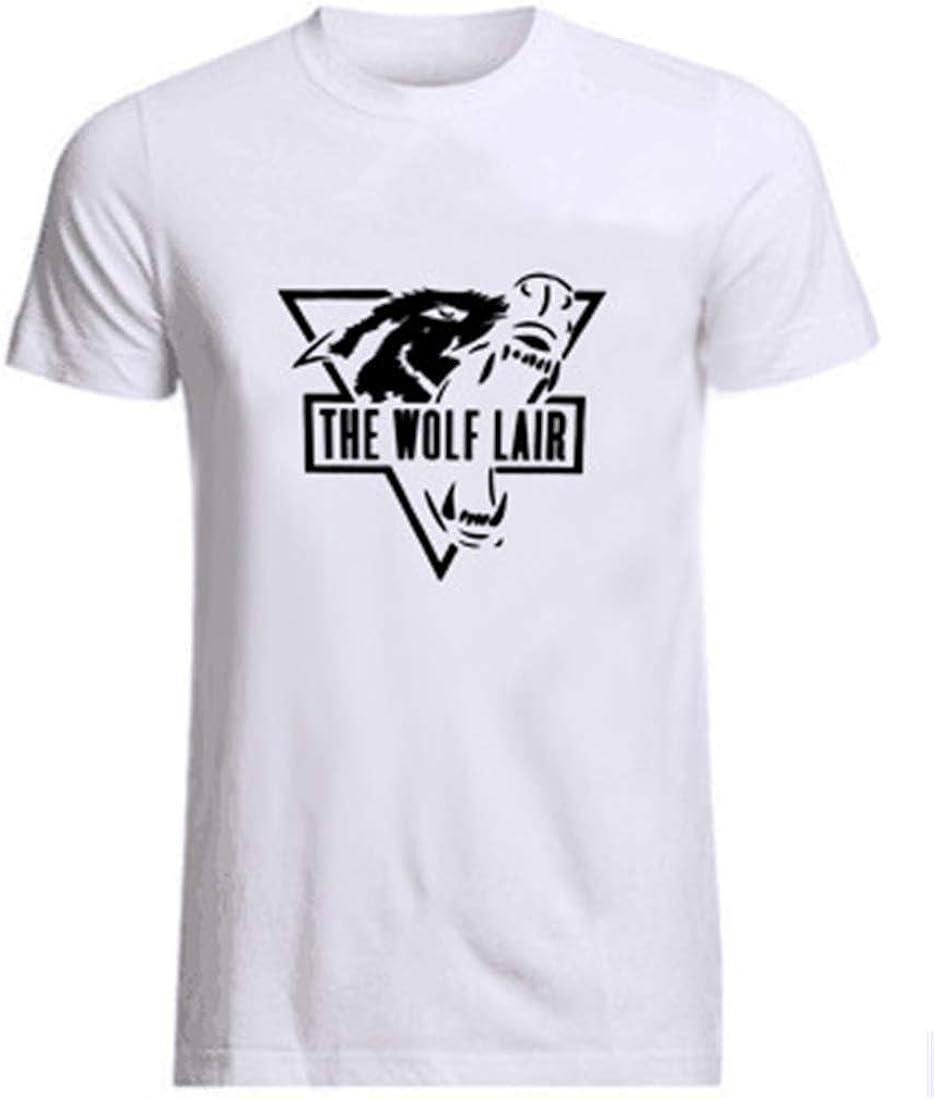 COWBI Uomo Stampa Muscolare Sportivo Manica Corta Bodybuilding Casual Cotone T-Shirt per Fitness Tank Top