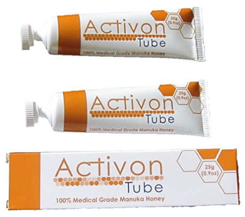One 25g Tube ((Twin Pack) Activon Tube Manuka Honey 25g - Pack of 2 Tubes - 100% Medical Grade Manuka Honey)