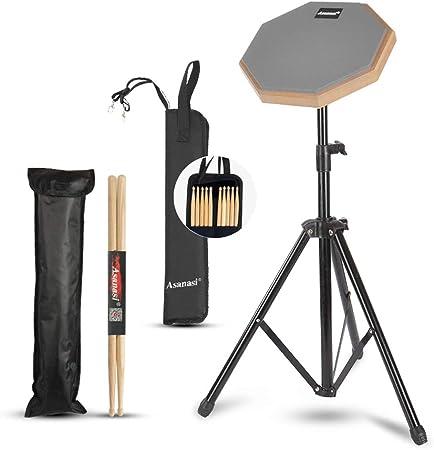 """Caja sorda percusión Drum Practice Pad 8"""" de práctica almohadilla de batería Transporte para Entrenamiento drum pad Pad de Práctica de Batería con Bolsa de Transporte Con baquetas,bolsa de baquetas: Amazon.es: Hogar"""