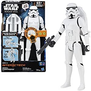 SW Star Wars Rogue One Hero Series Electronic Deluxe Stormtrooper 12-Inch Action Figure