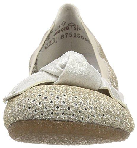 silver White Weissgold Rieker Ballerine Donna Oro 41497 wqB4YH