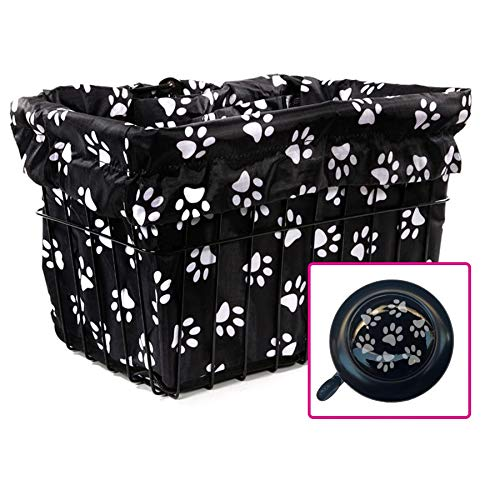 Cruiser Candy Dog Paw Bicycle Basket - Liner Paws
