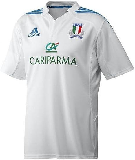 adidas Italia FIR licitación White Camiseta de Rugby: Amazon.es ...