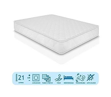 Duermete Gran Confort-Colchón Viscoelástico Memory Relax Reversible, Viscogel, Blanco, 80x190: Amazon.es: Juguetes y juegos