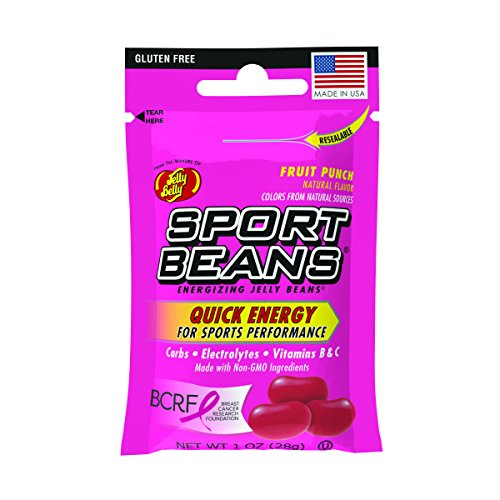 Jelly Belly Sport Beans, Energizing Jelly Beans, Fruit Punch Flavor, 24 Pack, 1-oz Each