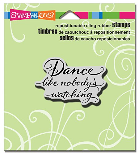- STAMPENDOUS Cling Dance Like Rubber Stamp