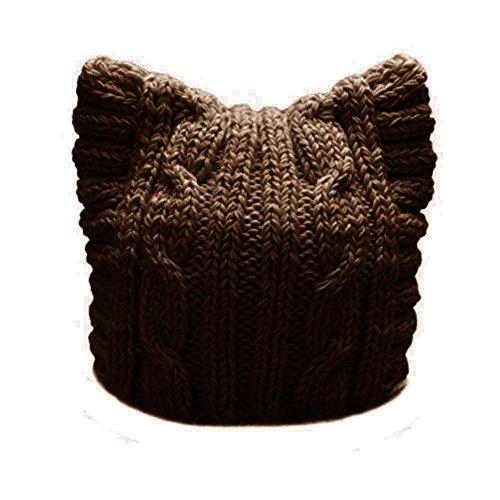 BIBITIME Handmade Knit Pussycat Hat Women