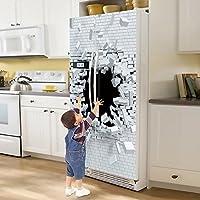 Yazi - Adhesivo de vinilo para puerta completa del refrigerador ...