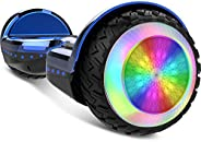 Gyrocopters PRO 6.0 All Terrain Hoverboard - UL 2272 Certified with Bluetooth, 36V / 2.0Ah Powerful Battery, 6