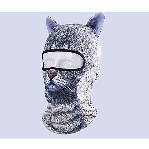 Outgeek Cat Mask, Women Men Balaclava Summer Full Face Hat Animal Ears Sports Helmet Climbing Fishing Cap (2PCS Cats) by Outgeek (Image #4)