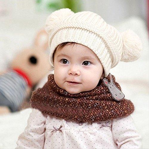 3ae94dacfe6c FEITONG(TM) Cute Baby Kids Girl Boy Dual Balls Warm Winter - Import ...