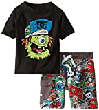 DC Shoes Co Baby Boys Rashguard With Microfiber Swim Shorts