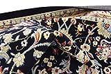 Unique Loom Kashan Collection Navy Blue 8 ft Square
