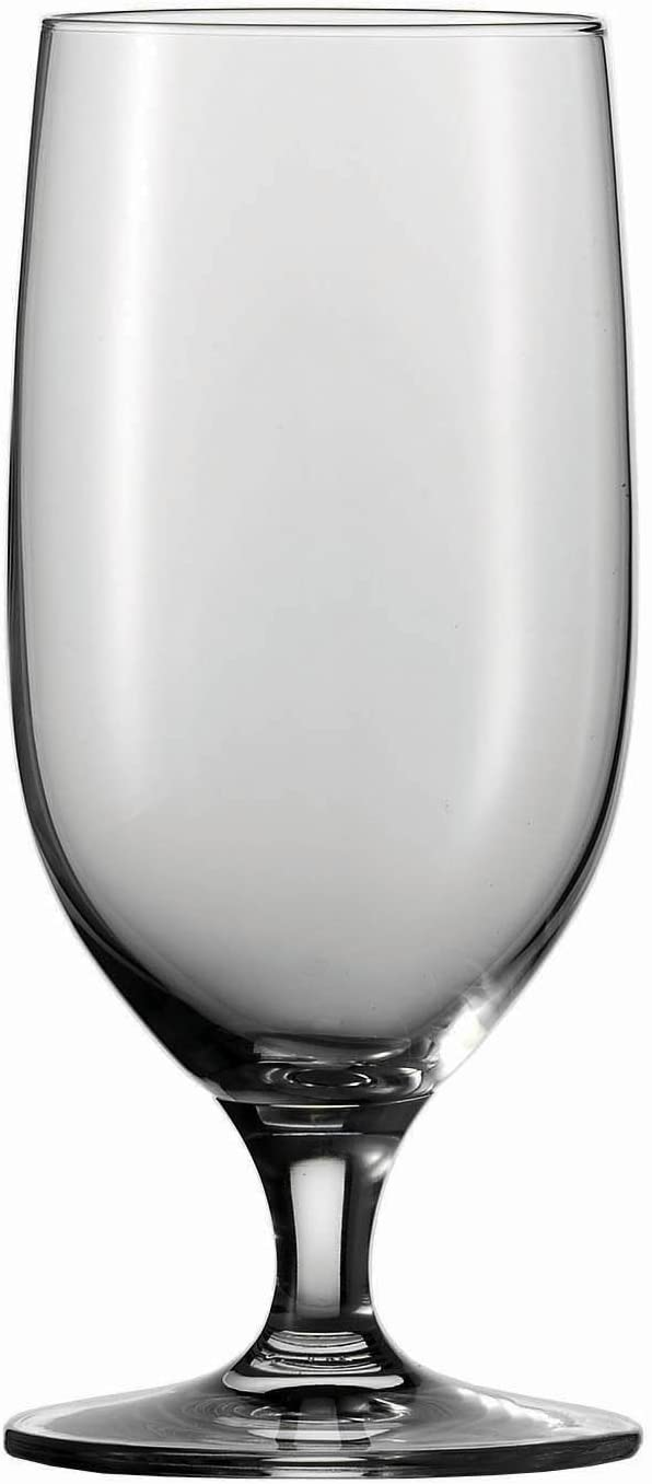 Schott Zwiesel Tritan Crystal Glass Mondial Stemware Collection All Purpose Beverage, Water/Beer Glass 13.2-Ounce, Set of 6