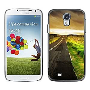 Paccase / SLIM PC / Aliminium Casa Carcasa Funda Case Cover para - Empty Driving Hope Cars Freedom - Samsung Galaxy S4 I9500
