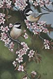Cheap Toland Home Garden Forget Me Not Chickadees 28 x 40 Inch Decorative Spring Flower Bird Branch House Flag