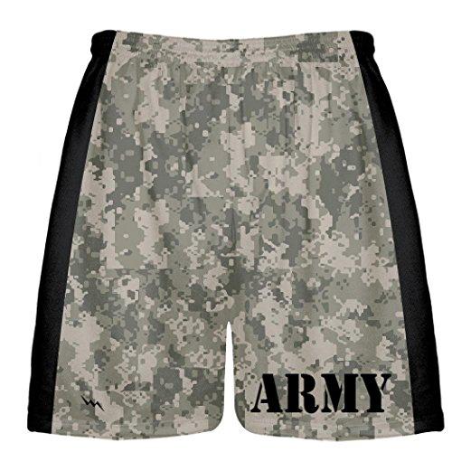 army dark camouflage short mens boys lacrosse
