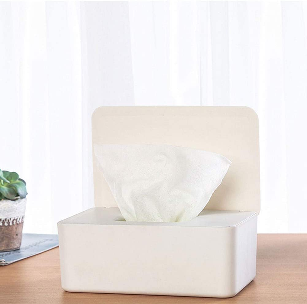 Giytoo Tissue Storage Box Case Wet Wipes Dispenser Holder with Lid for Home Office