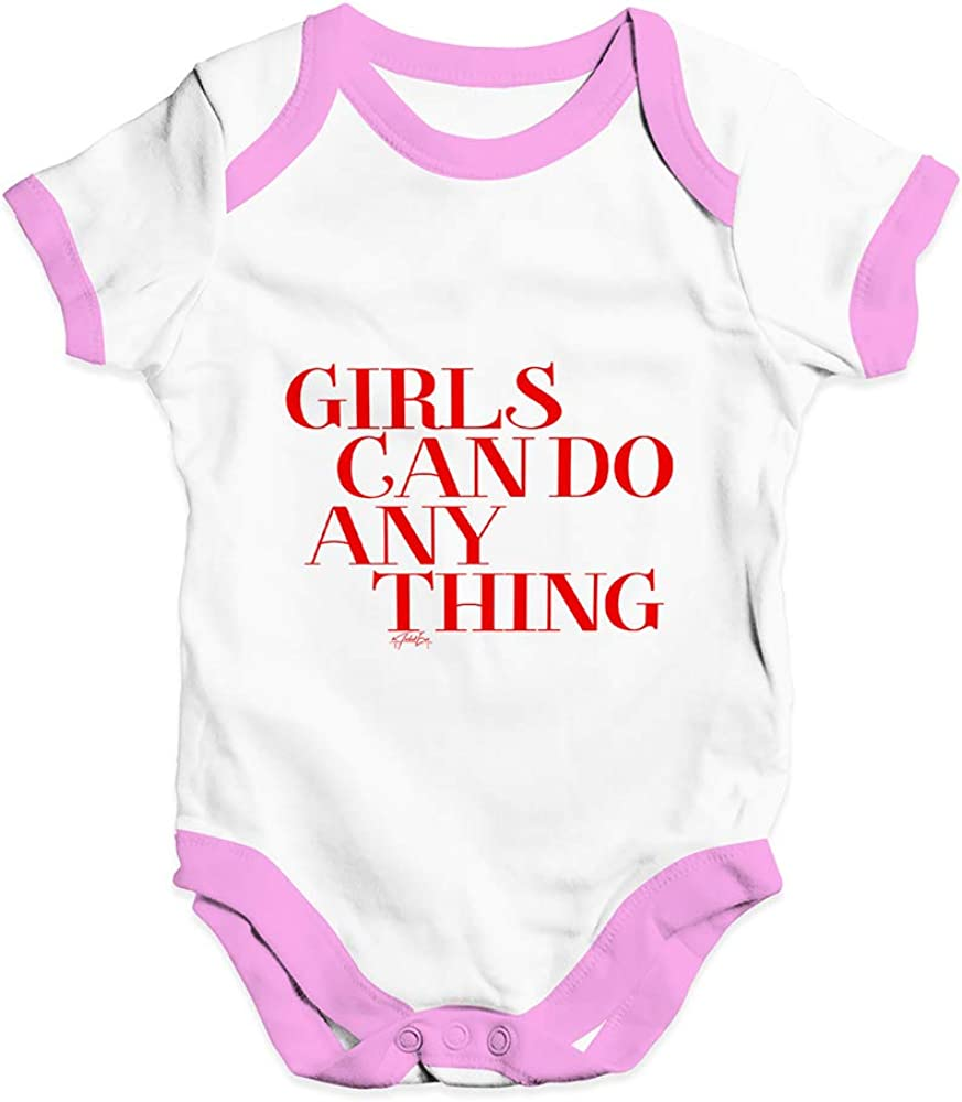 TWISTED ENVY Babygrow Baby Romper Girls Can Do Anything
