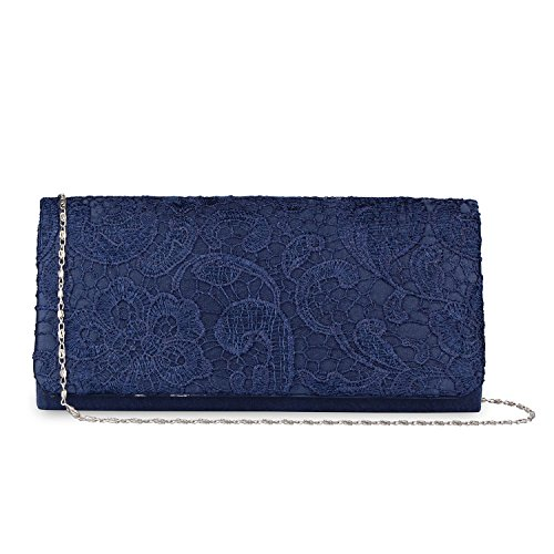 bag Purse Chain Bag Floral Clutch Wedding Evening Chain Handbag handbag Girl's Blue Baglamor wxIvPqFYF