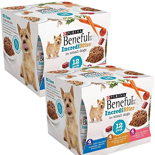 Beneful IncrediBites (Beef, Chicken, & Salmon Variety Pack) - Wet Dog Food - 3oz cans