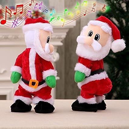Möbel & Wohnen Jahreszeitliche Dekorationen Elektrische Tanzender Weihnachtsmann Mit Musik Weihnachten Spielzeug