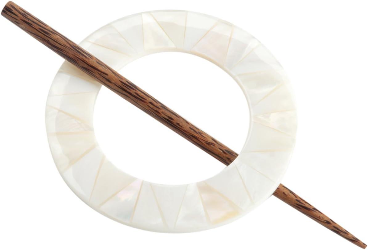Paradise Exotic Shawl Pin Spiral Shawl Pin Tiger Ebony
