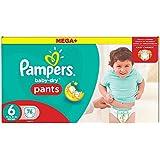 Pampers Baby-Dry Pants Pañales para Bebés, Talla 6 (16+ kg) - 76 pañales