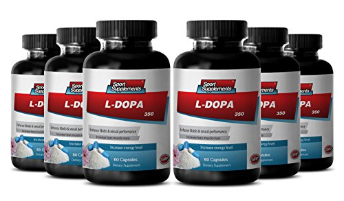 Organic Mucuna Pruriens Powder - L-Dopa - Herbal Energy Support with l dopa (6 Bottles 360 Capsules) by Sport Supplement