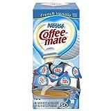 Nestle Coffee-mate Coffee Creamer, French Vanilla, 0.375oz Liquid Creamer Singles, 50 Count